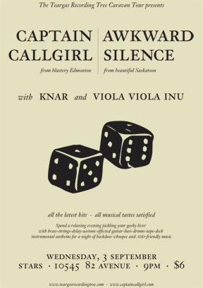 Captain Callgirl gig poster - 2003